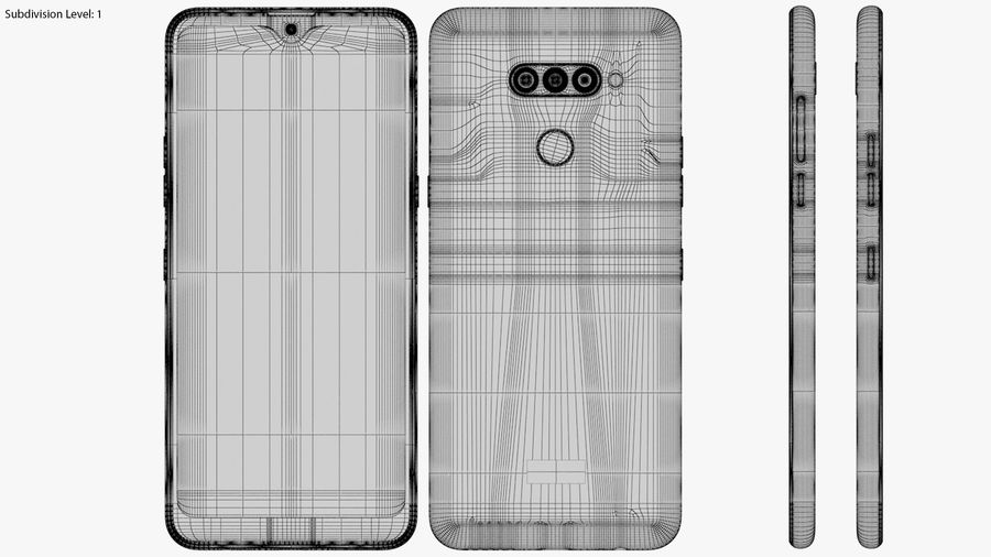 LG K50S New Moroccan Blue royalty-free 3d model - Preview no. 20