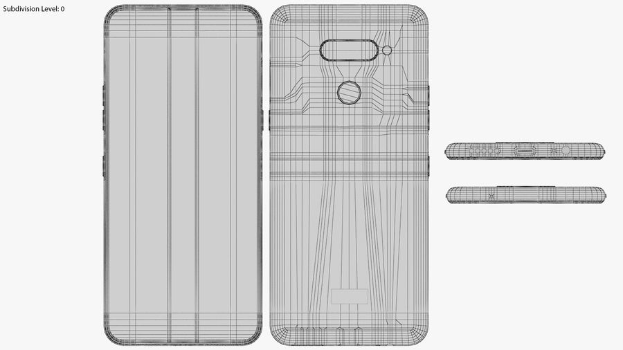 LG K50S New Moroccan Blue royalty-free 3d model - Preview no. 17