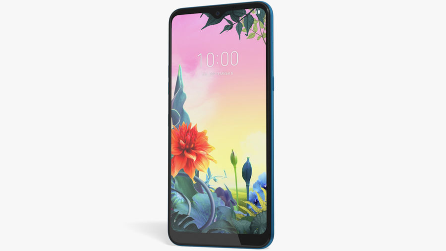 LG K50S New Moroccan Blue royalty-free 3d model - Preview no. 2