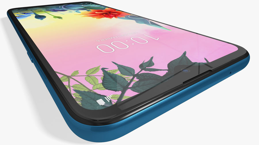 LG K50S New Moroccan Blue royalty-free 3d model - Preview no. 9