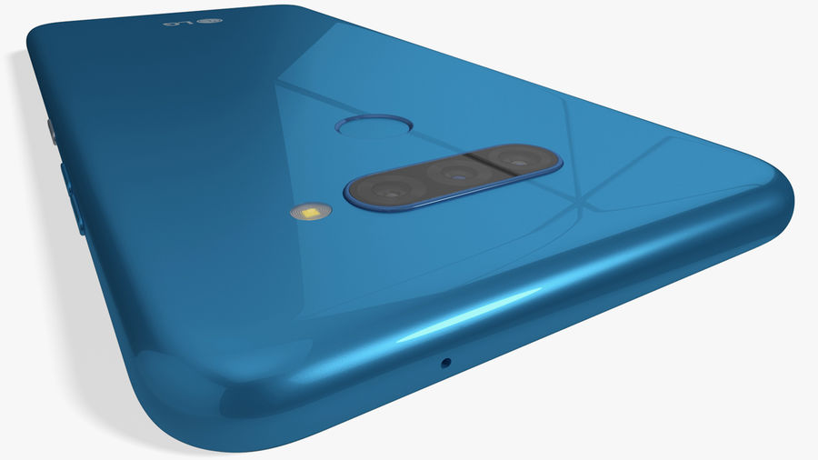 LG K50S New Moroccan Blue royalty-free 3d model - Preview no. 7