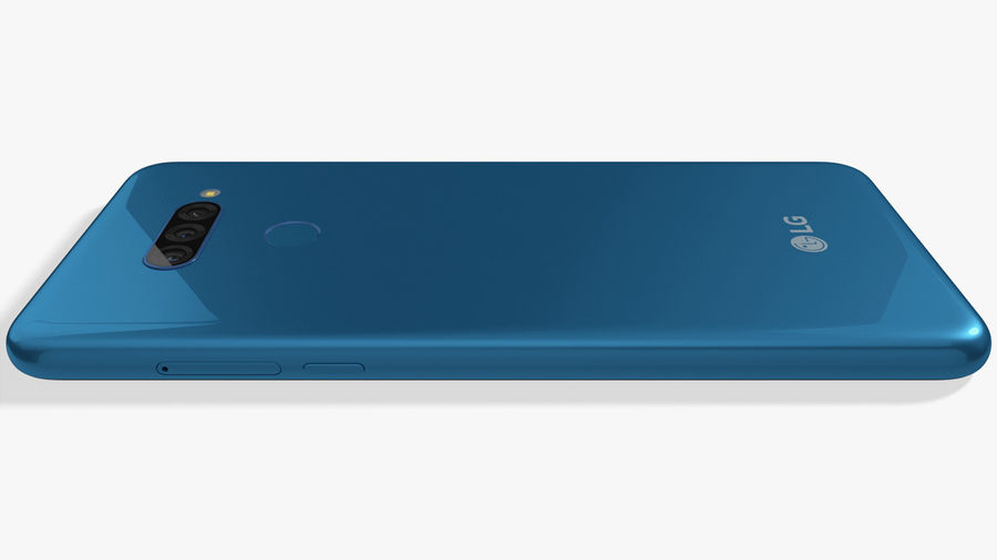LG K50S New Moroccan Blue royalty-free 3d model - Preview no. 12