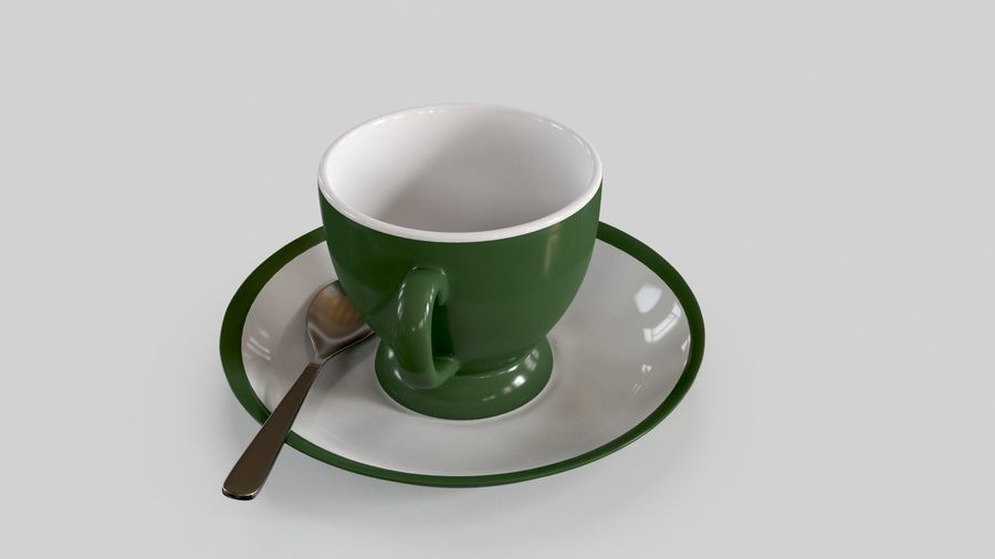 Cup For Tea royalty-free 3d model - Preview no. 6