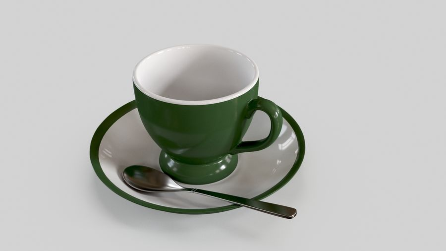 Cup For Tea royalty-free 3d model - Preview no. 2