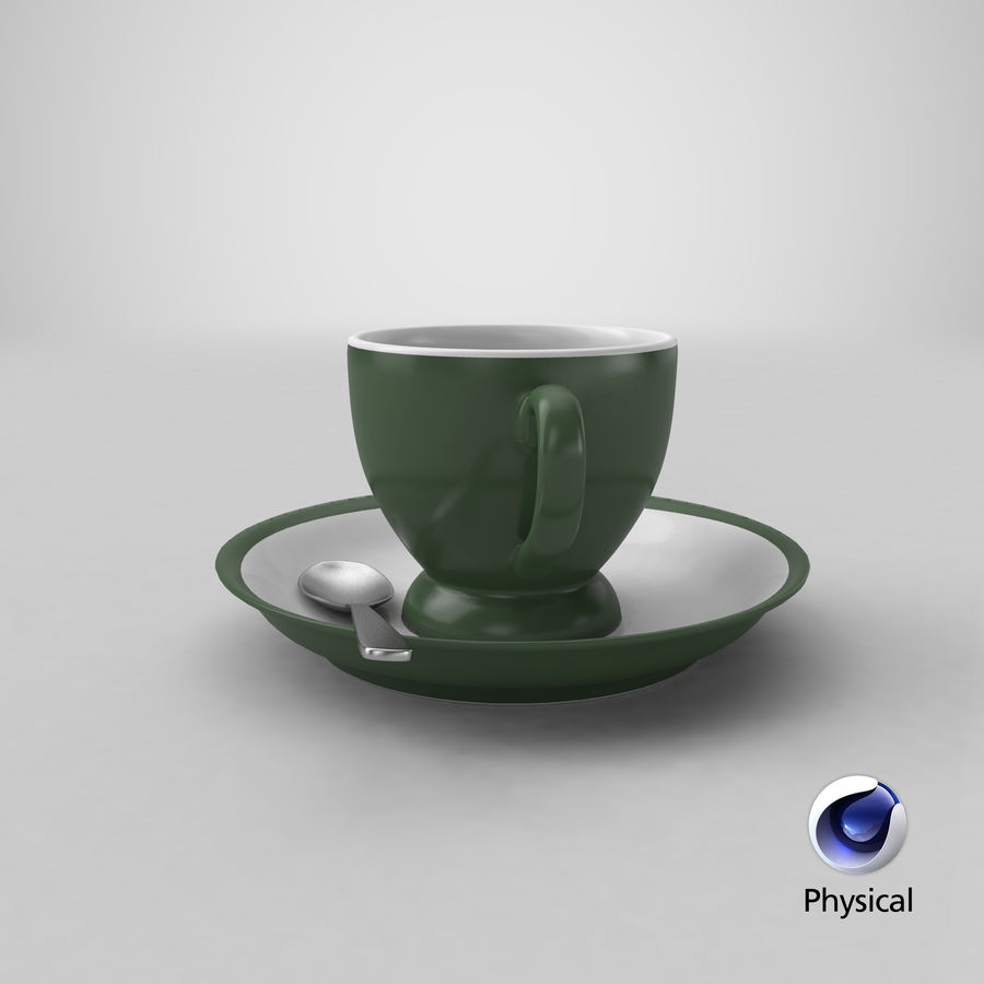Cup For Tea royalty-free 3d model - Preview no. 22