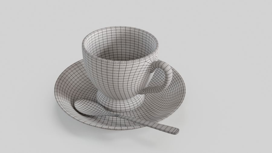 Cup For Tea royalty-free 3d model - Preview no. 10