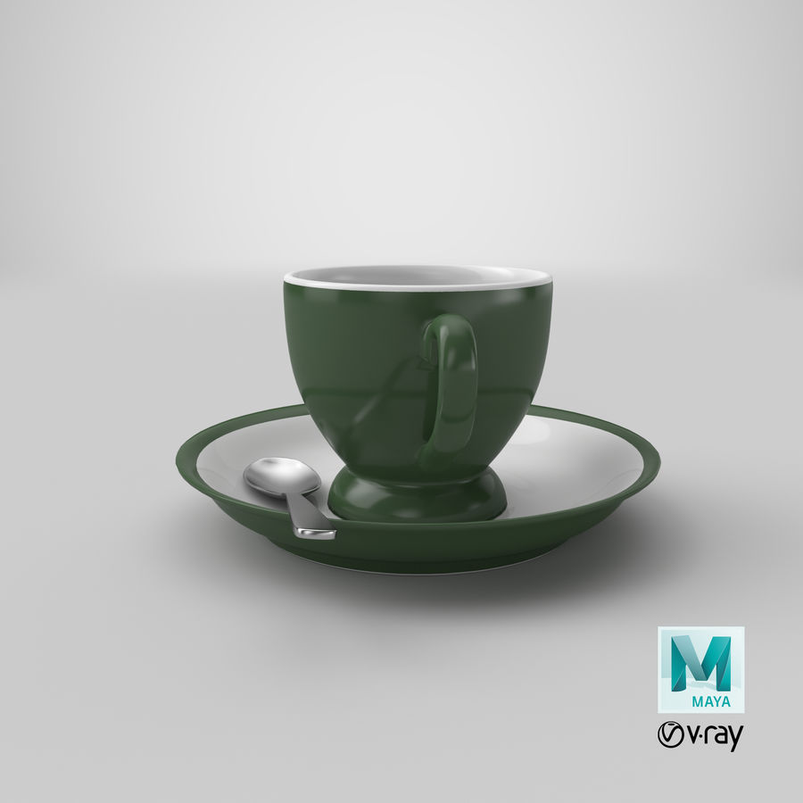 Cup For Tea royalty-free 3d model - Preview no. 31