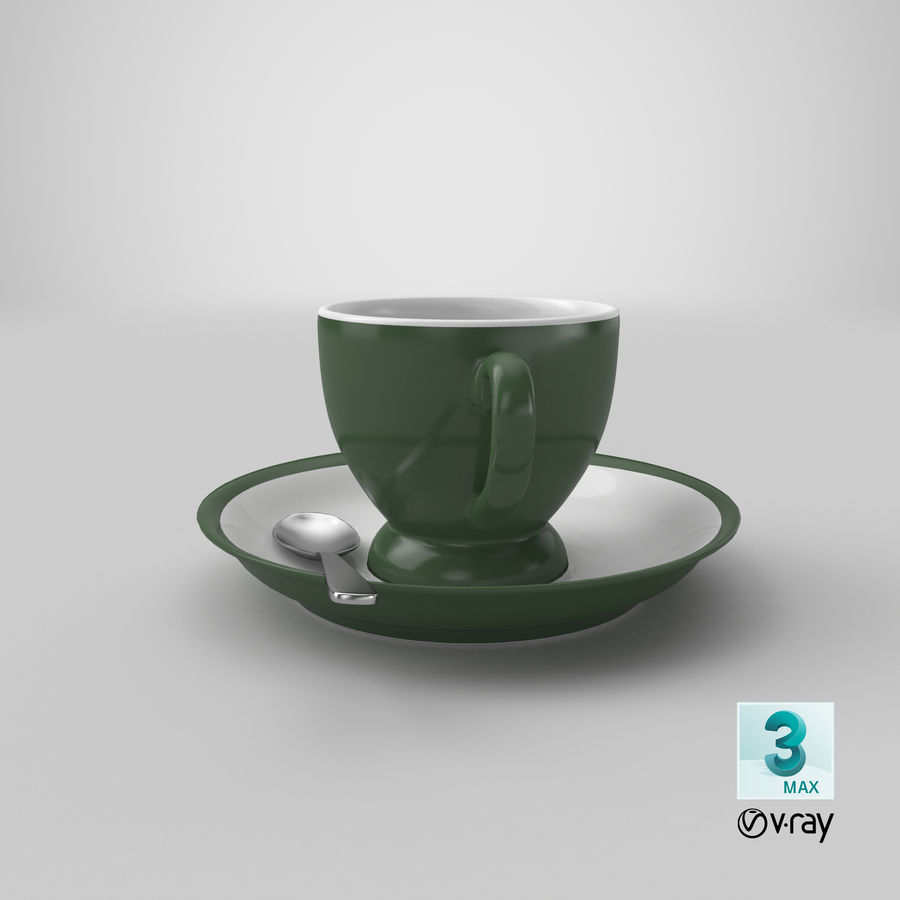 Cup For Tea royalty-free 3d model - Preview no. 28