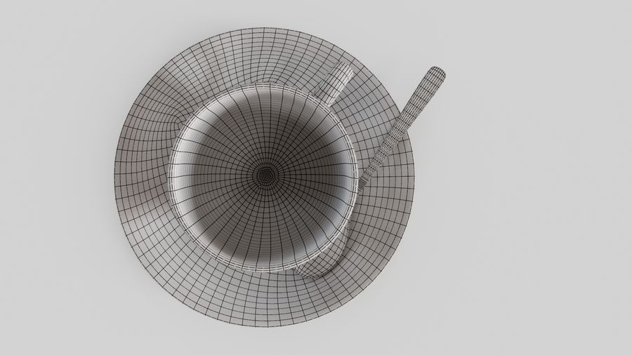Cup For Tea royalty-free 3d model - Preview no. 11