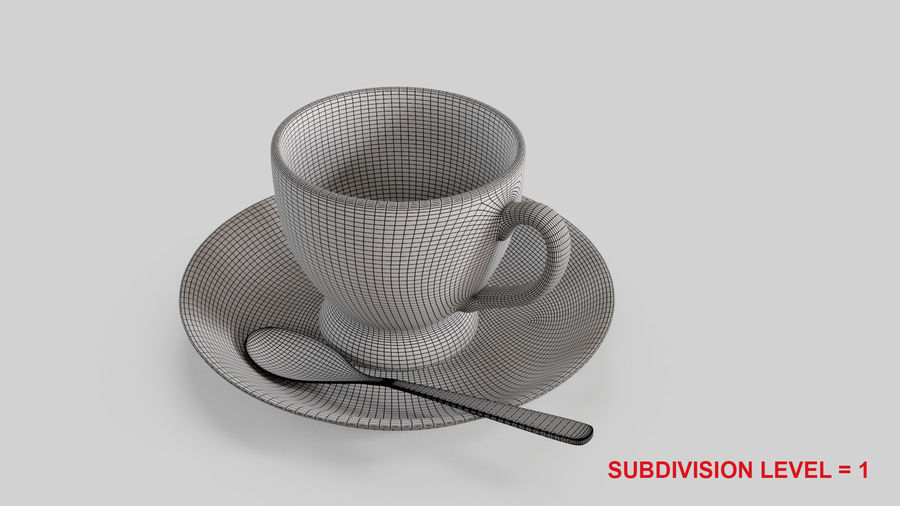 Cup For Tea royalty-free 3d model - Preview no. 15