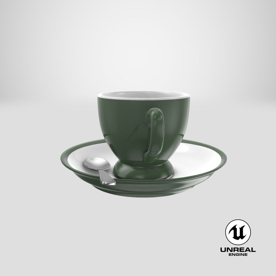 Cup For Tea royalty-free 3d model - Preview no. 25