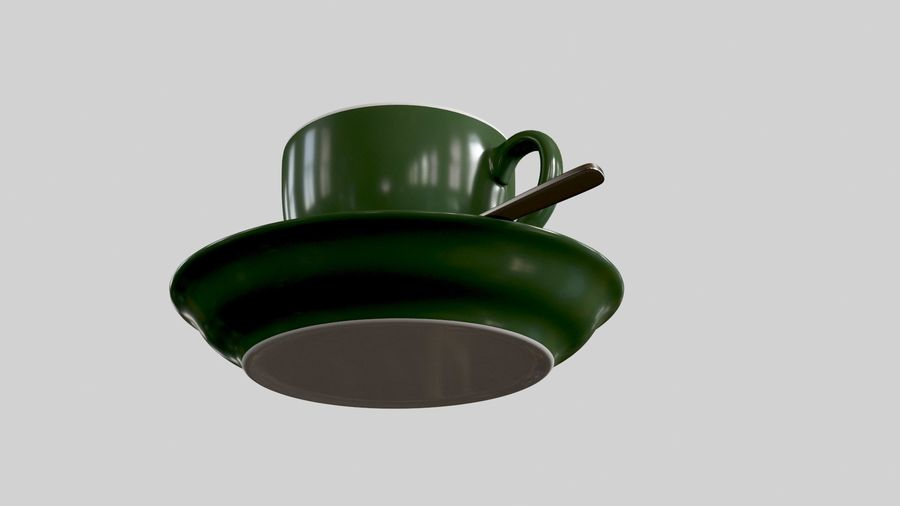 Cup For Tea royalty-free 3d model - Preview no. 4