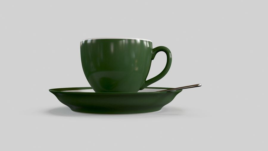 Cup For Tea royalty-free 3d model - Preview no. 5