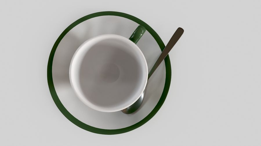Cup For Tea royalty-free 3d model - Preview no. 7