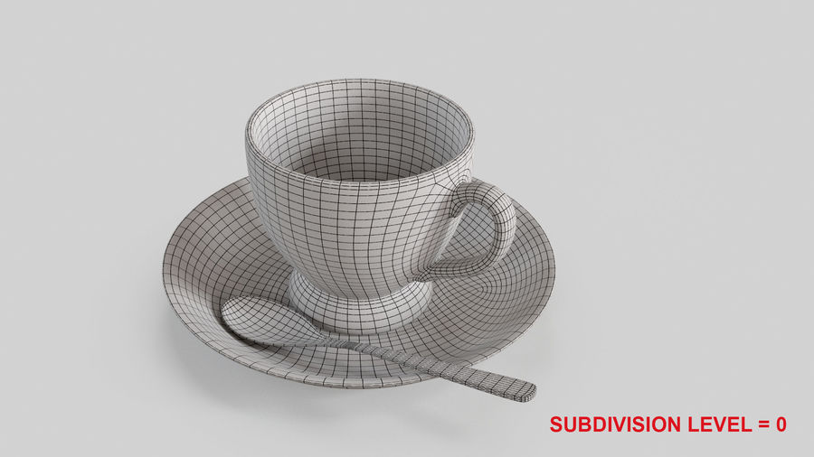 Cup For Tea royalty-free 3d model - Preview no. 14