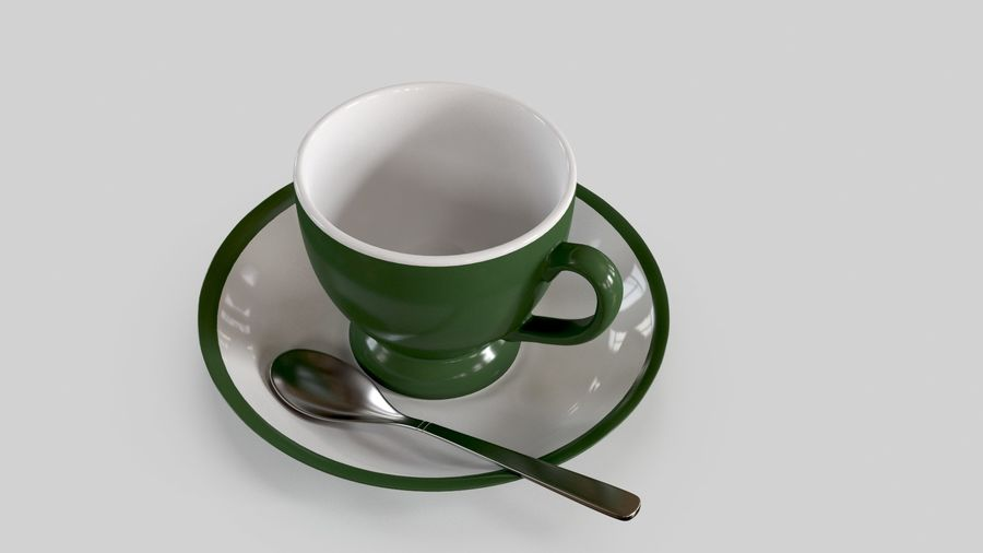 Cup For Tea royalty-free 3d model - Preview no. 3