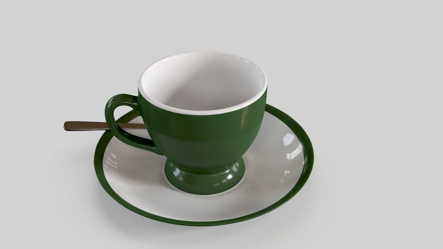 Cup For Tea royalty-free 3d model - Preview no. 9