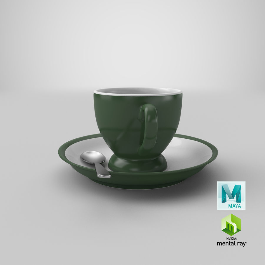 Cup For Tea royalty-free 3d model - Preview no. 30