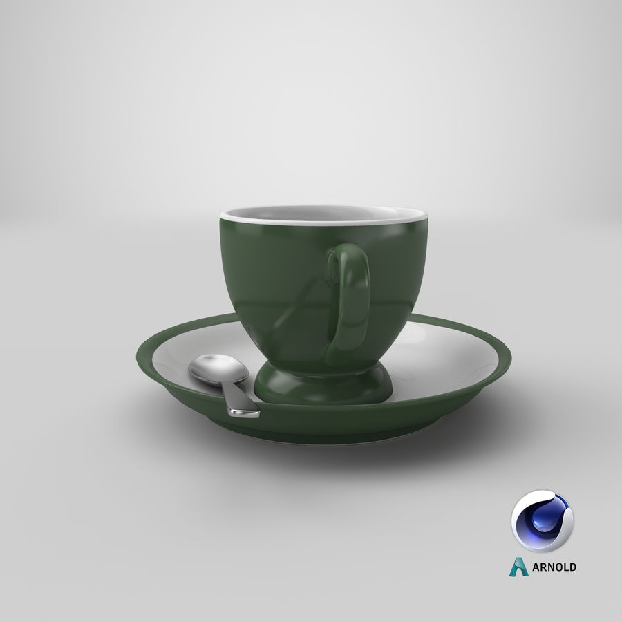 Cup For Tea royalty-free 3d model - Preview no. 23