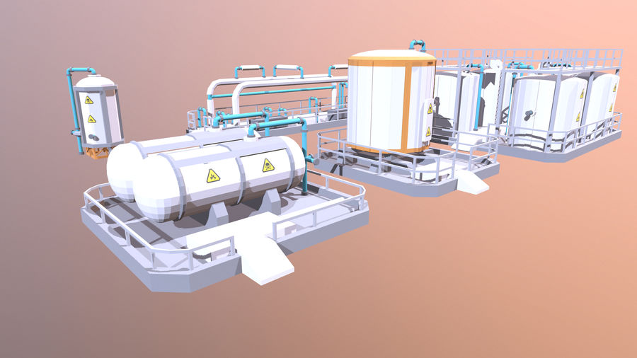 for the factory royalty-free 3d model - Preview no. 4