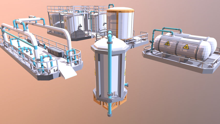for the factory royalty-free 3d model - Preview no. 3