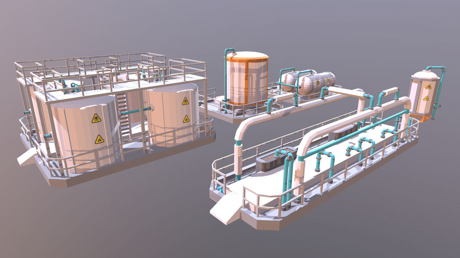 for the factory royalty-free 3d model - Preview no. 1