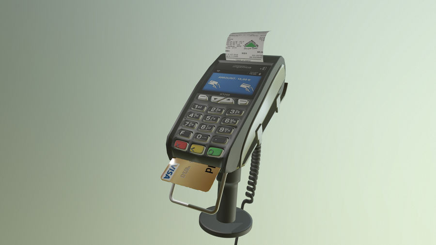 payment terminal royalty-free 3d model - Preview no. 1