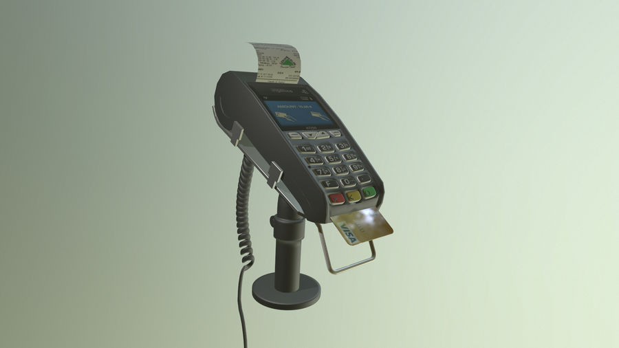 payment terminal royalty-free 3d model - Preview no. 4