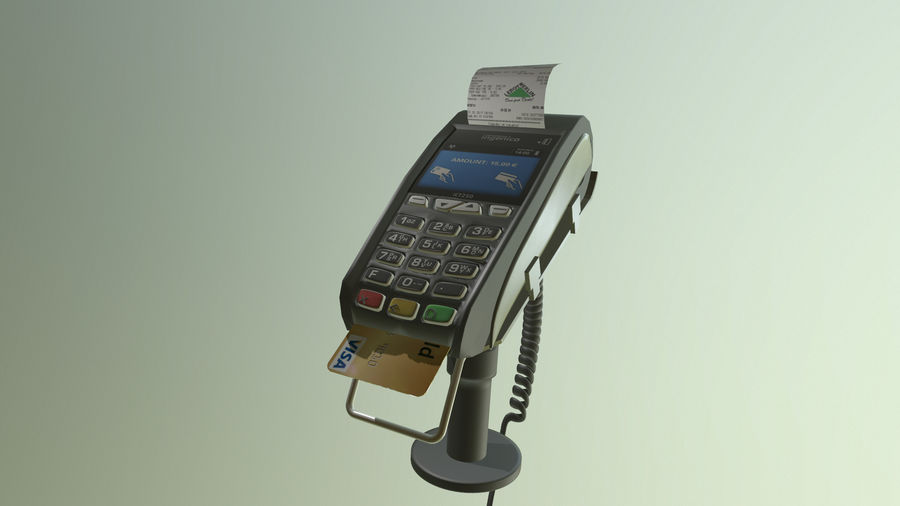 payment terminal royalty-free 3d model - Preview no. 2
