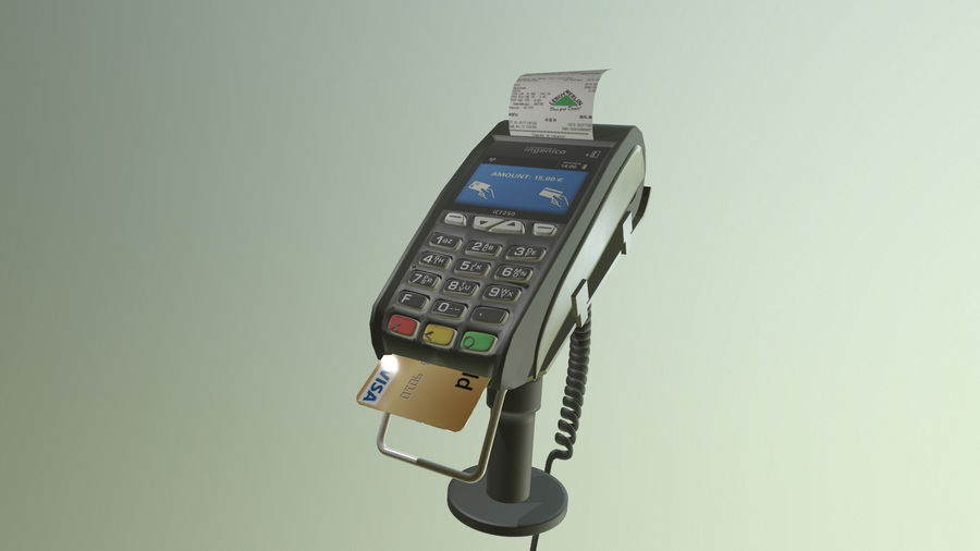 payment terminal royalty-free 3d model - Preview no. 3