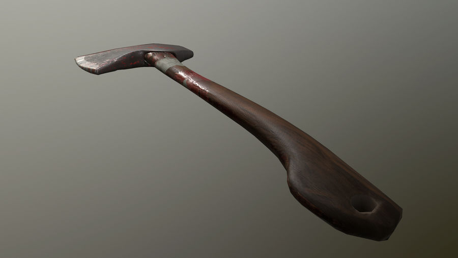 Melee Axe royalty-free 3d model - Preview no. 6