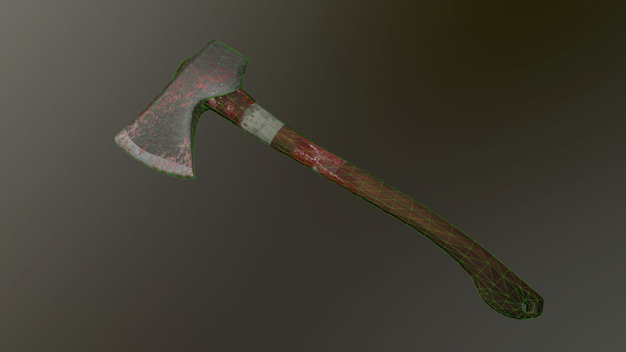 Melee Axe royalty-free 3d model - Preview no. 3