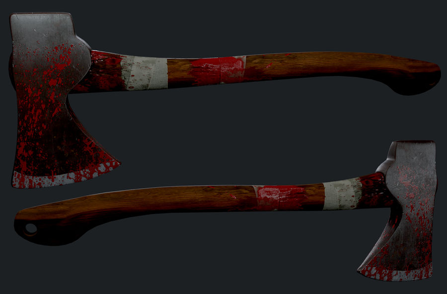 Melee Axe royalty-free 3d model - Preview no. 1