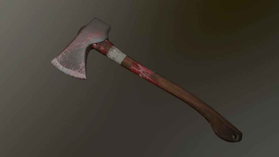 Melee Axe royalty-free 3d model - Preview no. 2