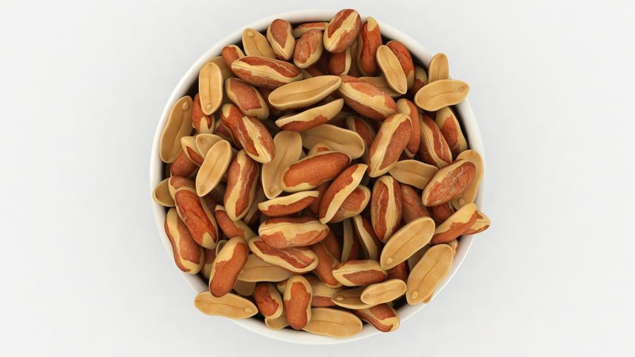 Peanuts with Peel in Bowl royalty-free 3d model - Preview no. 15