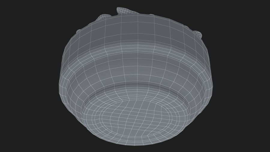 Peanuts with Peel in Bowl royalty-free 3d model - Preview no. 19