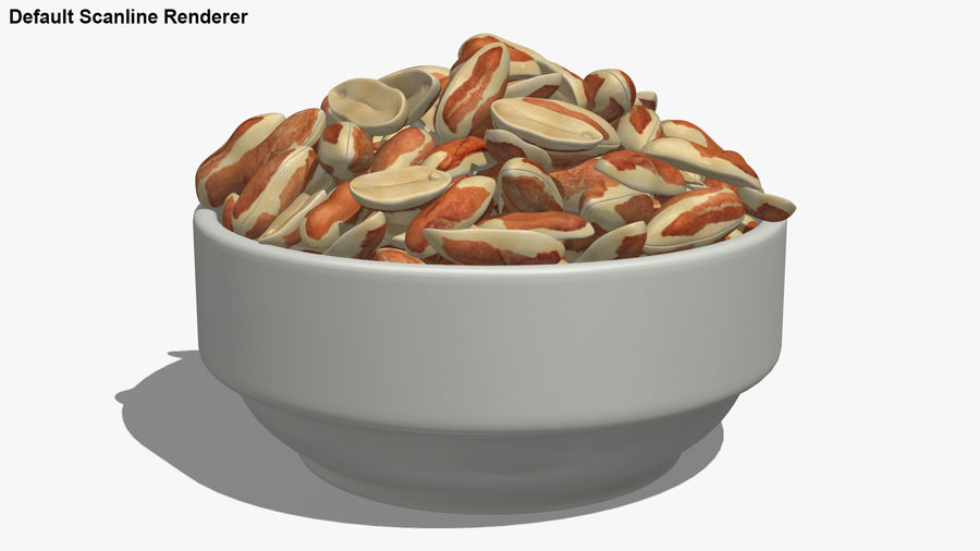 Peanuts with Peel in Bowl royalty-free 3d model - Preview no. 27