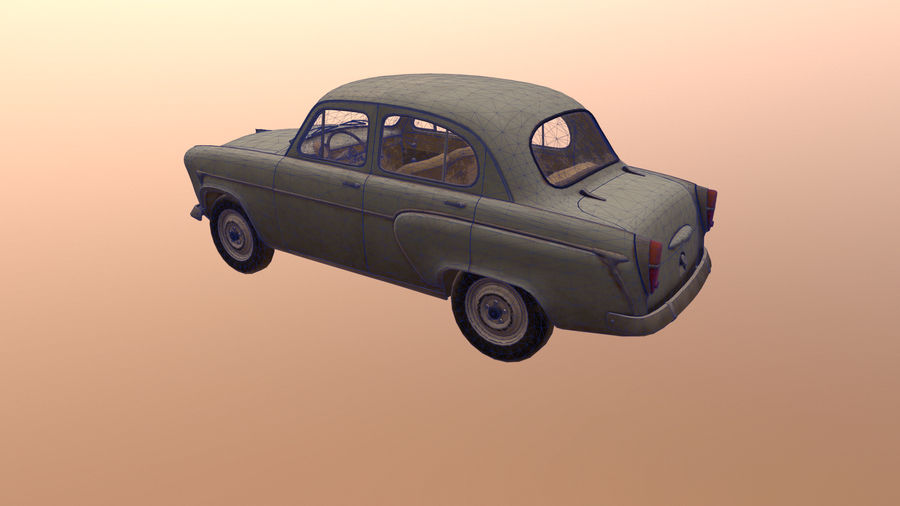Moskvich royalty-free 3d model - Preview no. 5