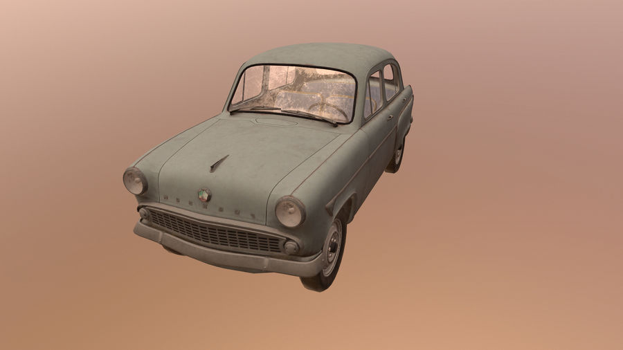 Moskvich royalty-free 3d model - Preview no. 2