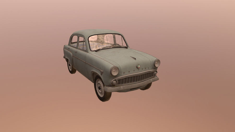 Moskvich royalty-free 3d model - Preview no. 1