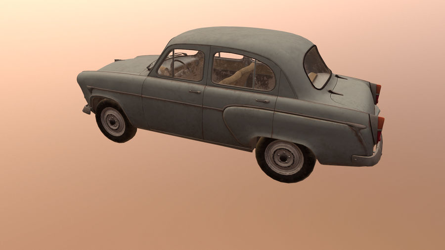 Moskvich royalty-free 3d model - Preview no. 3
