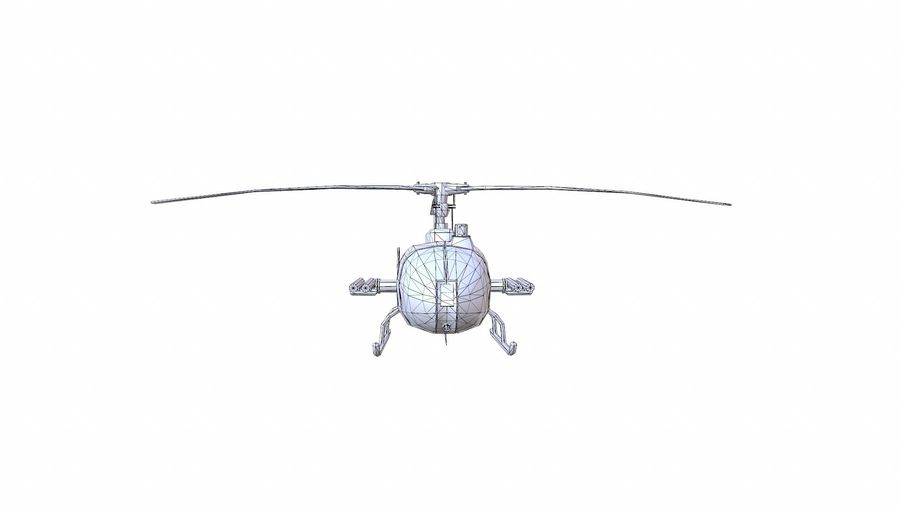 Helicóptero Gazelle royalty-free 3d model - Preview no. 13