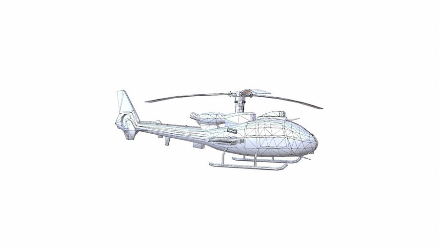 Gazelle helikopter royalty-free 3d model - Preview no. 18