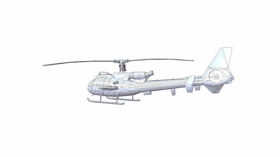 Helicóptero Gazelle royalty-free 3d model - Preview no. 15
