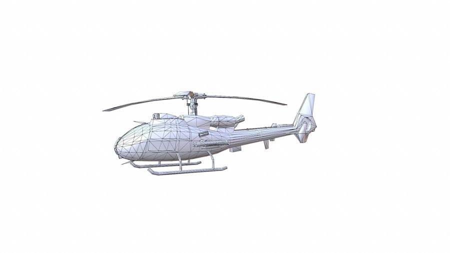 Helicóptero Gazelle royalty-free 3d model - Preview no. 14