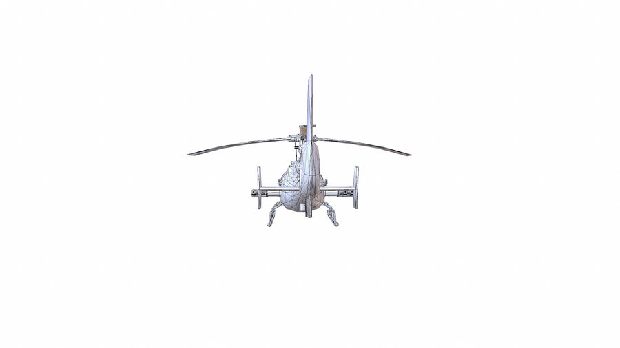 Gazelle Hubschrauber royalty-free 3d model - Preview no. 16