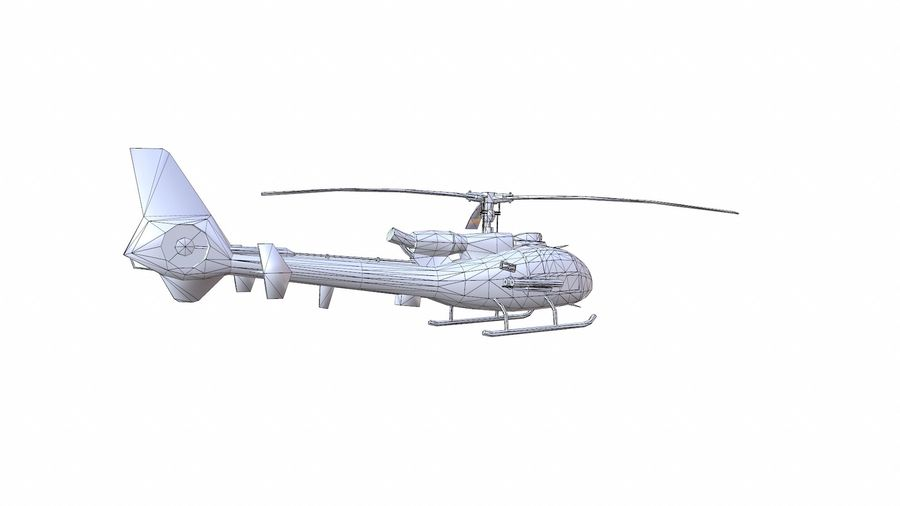Gazelle helikopter royalty-free 3d model - Preview no. 17