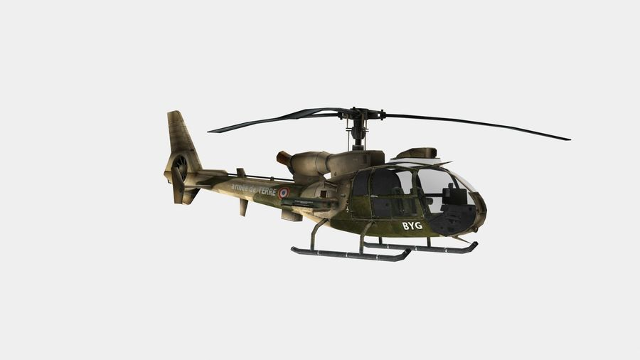 Helicóptero Gazelle royalty-free 3d model - Preview no. 9