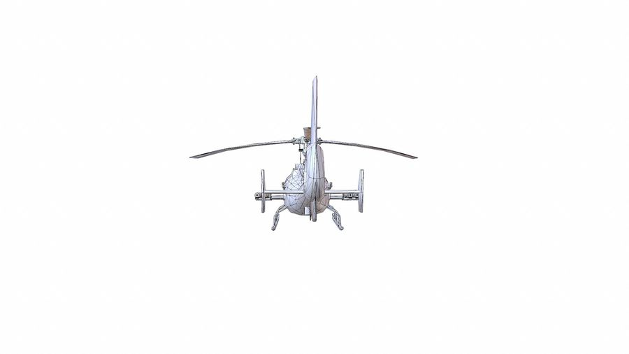 Helicóptero Gazelle royalty-free 3d model - Preview no. 16