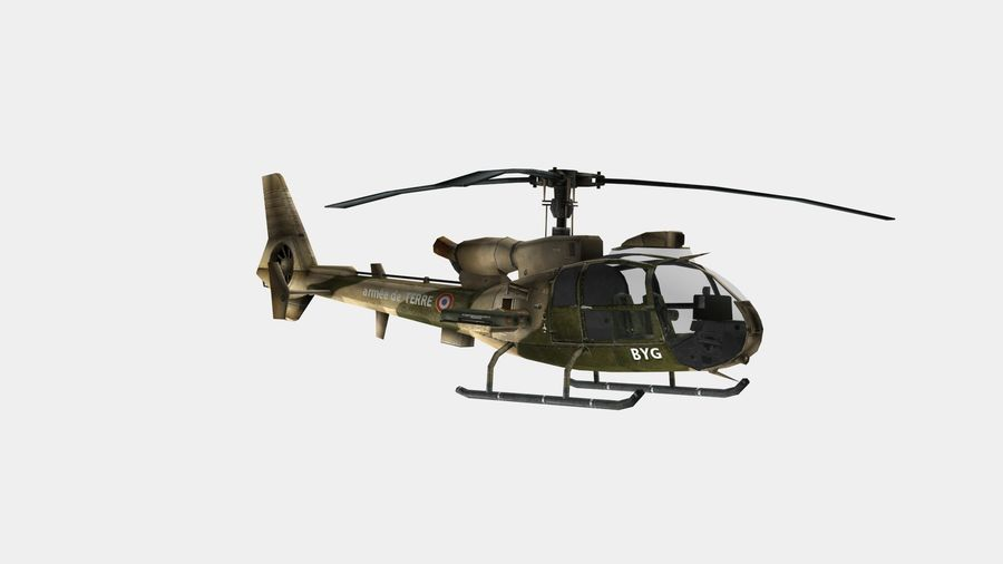 Gazelle Hubschrauber royalty-free 3d model - Preview no. 9